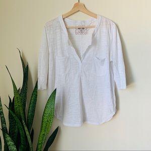 Nation Ltd burnout white t shirt top